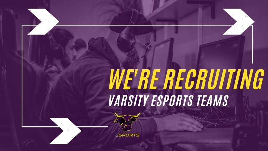 esports is recruiting with gamer image
